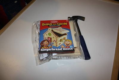 Our Lowe's Build and Grow Gingerbread House Project