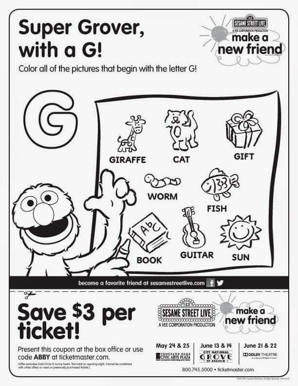 Free Sesame Street Printables Any Tots