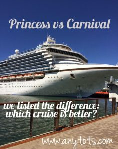 Princess VS Carnival: Difference between Cruises from Los Angeles
