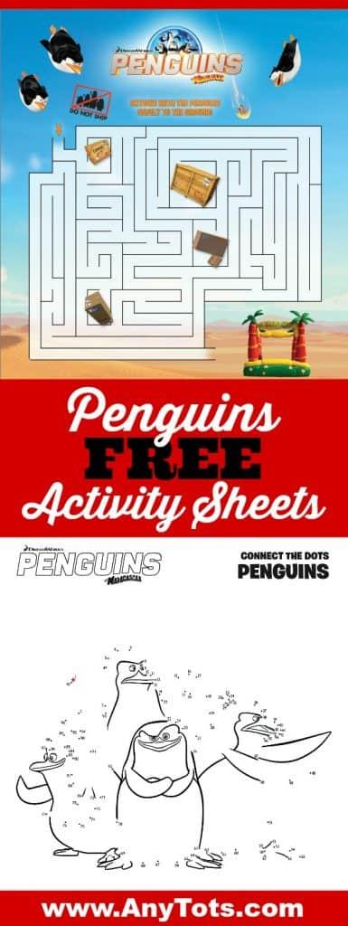 penguins free printable activity sheets