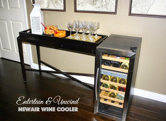 unwind or entertain with newairusa wine cooler any tots. Black Bedroom Furniture Sets. Home Design Ideas
