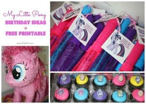 My Little Pony Birthday Ideas + My Little Pony Free Printables | #FreePrintables