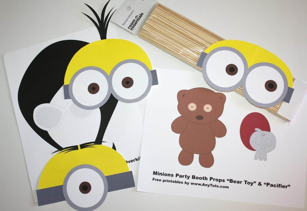 image regarding Minion Printable Free titled Minions Bash Booth Props Absolutely free Printables + Balloon Tower
