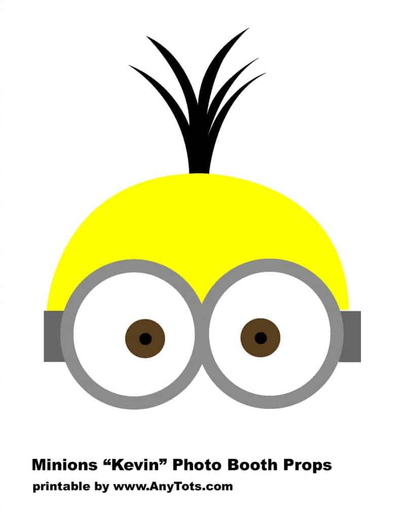 minions party booth props free printables balloon tower. Black Bedroom Furniture Sets. Home Design Ideas