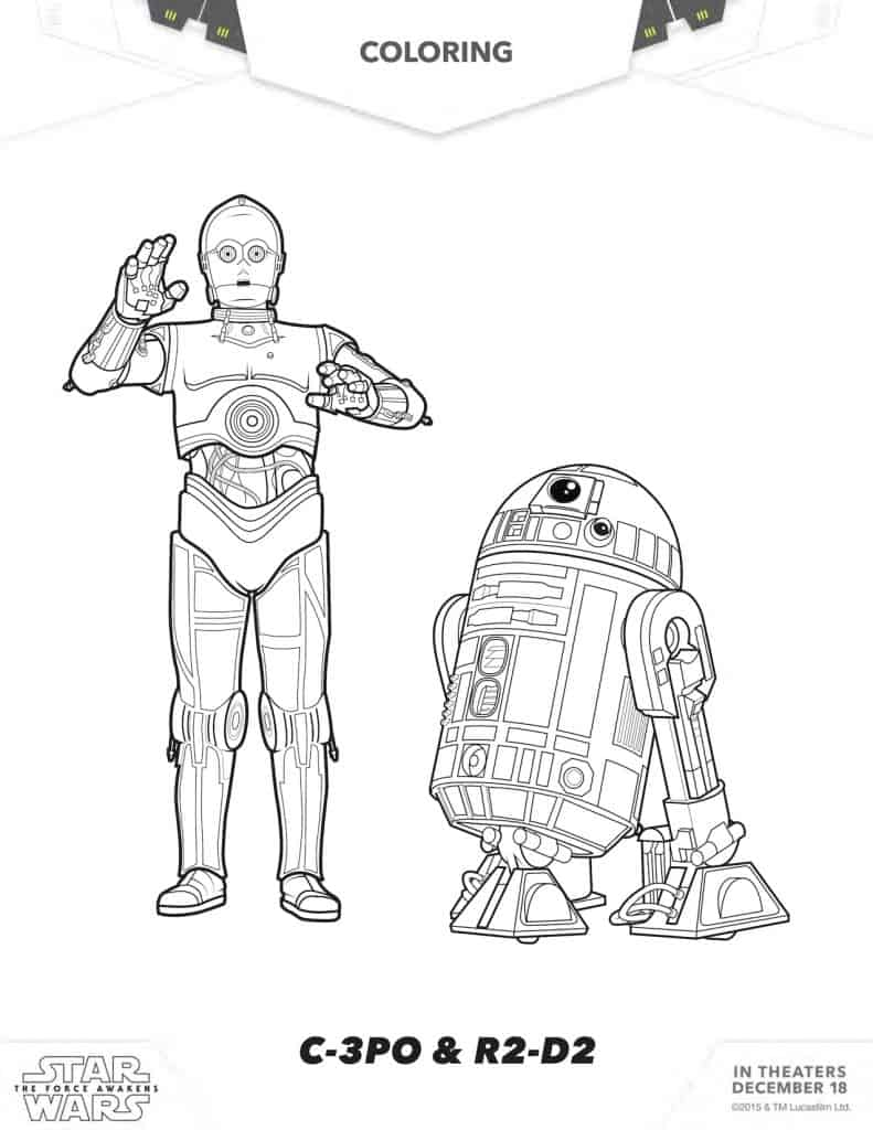 star wars coloring sheet