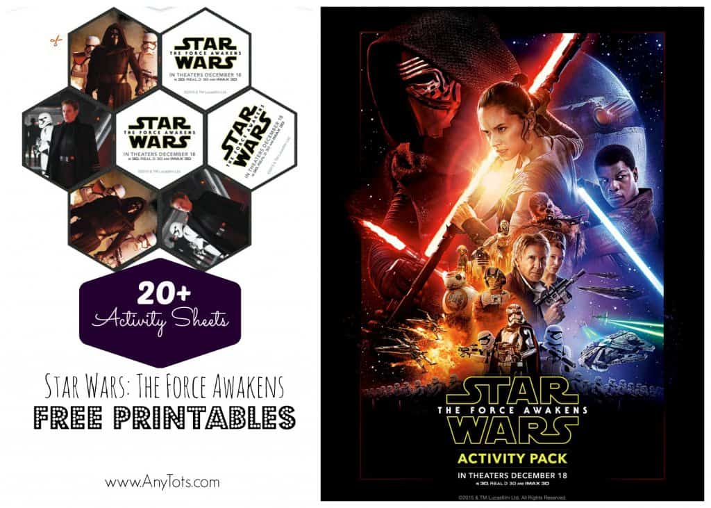 star wars free printable activity sheets