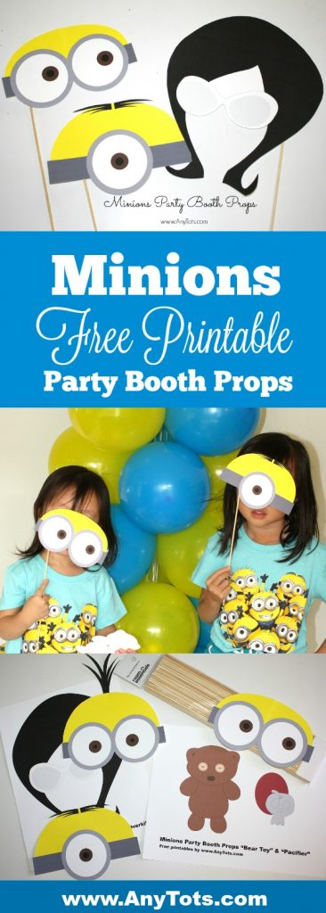 minions party booth props free printables