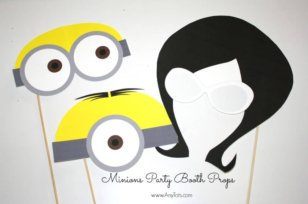 image regarding You Re One in a Minion Printable called Minions Bash Booth Props No cost Printables + Balloon Tower