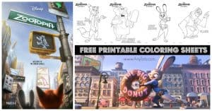 Free Printable Zootopia Coloring Sheets and Matching Game | #Zootopia #FreePrintables