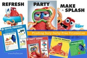 Finding Dory Free Printable: Invitation, Posters and Games