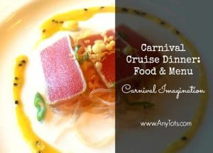 Carnival Cruise Menu and Food Pictures