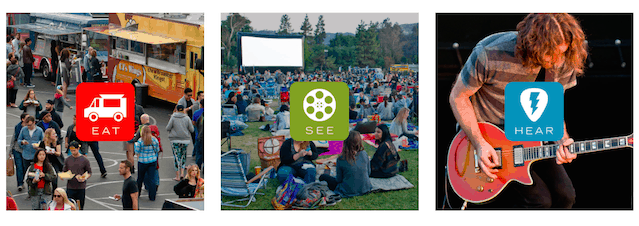 Eat See Hear Discount Tickets 2017 $8: Movies, Live Music & Food Trucks