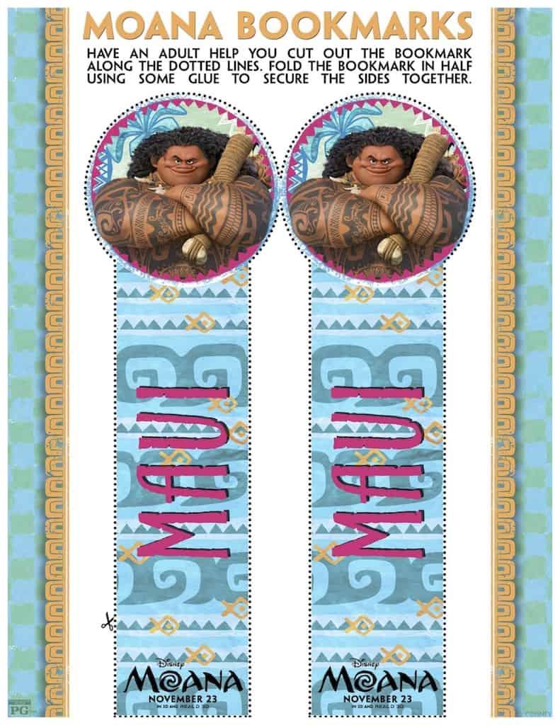 Moana Bookmark