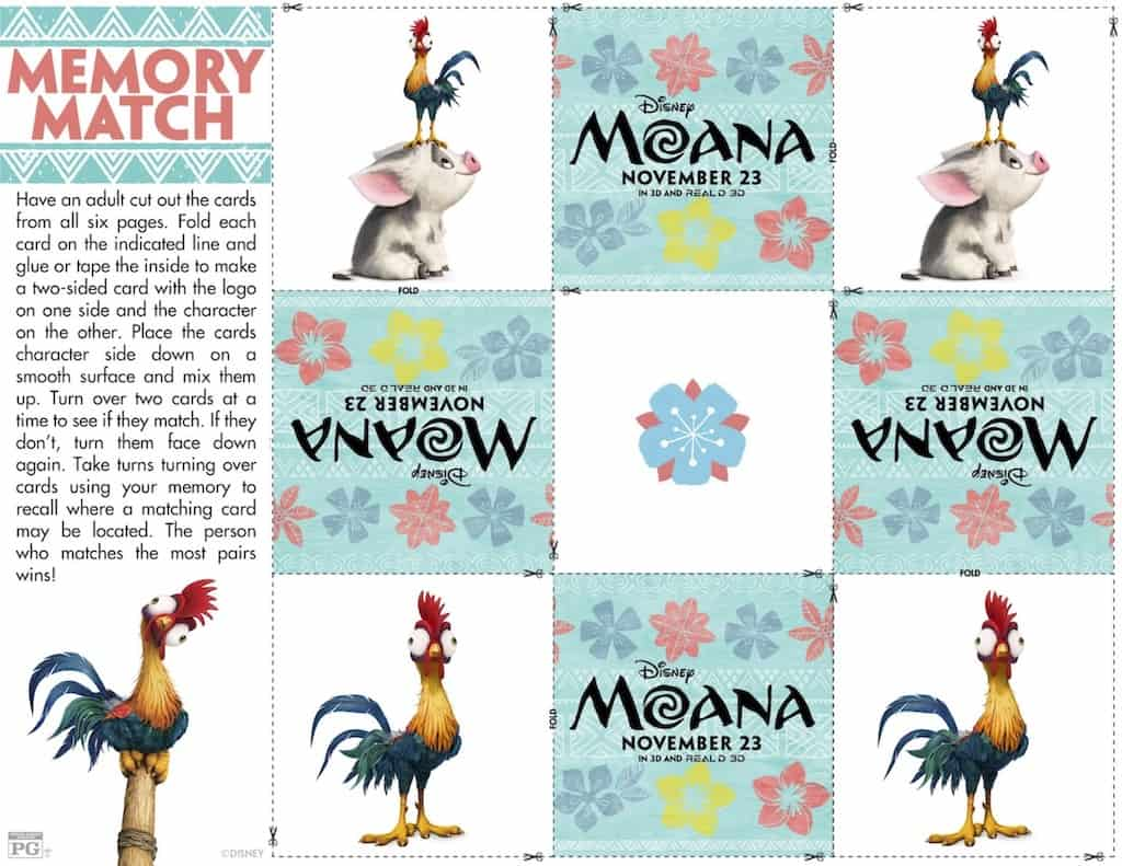 Moana Matching Game