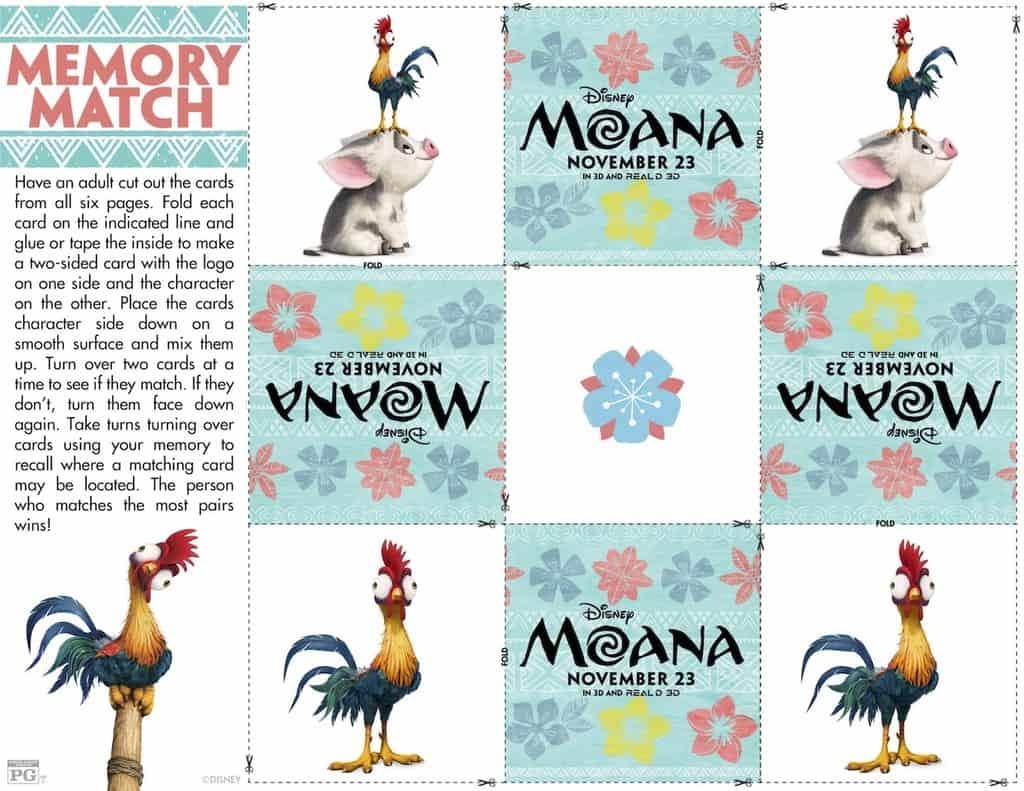 Free Printable Activity Sheets Moana Movie - Any Tots
