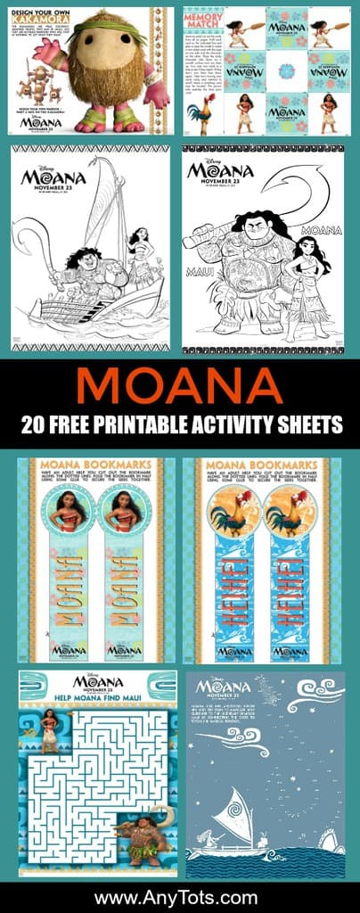 Moana Free Printable Activity Sheets