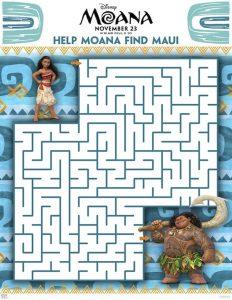 Moana Maze Activity Sheet