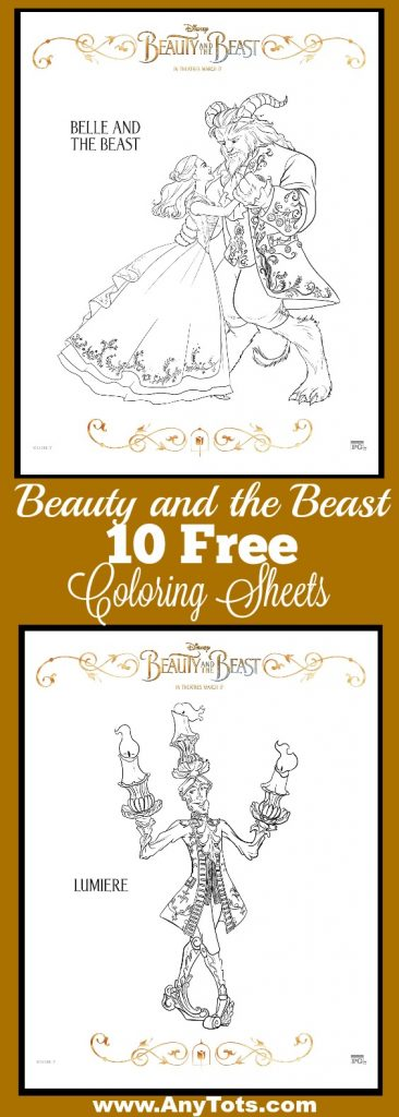 But To Start Heres 10 Free Beauty And The Beast Coloring Sheets You Can Print For Your Kids Also Check Out