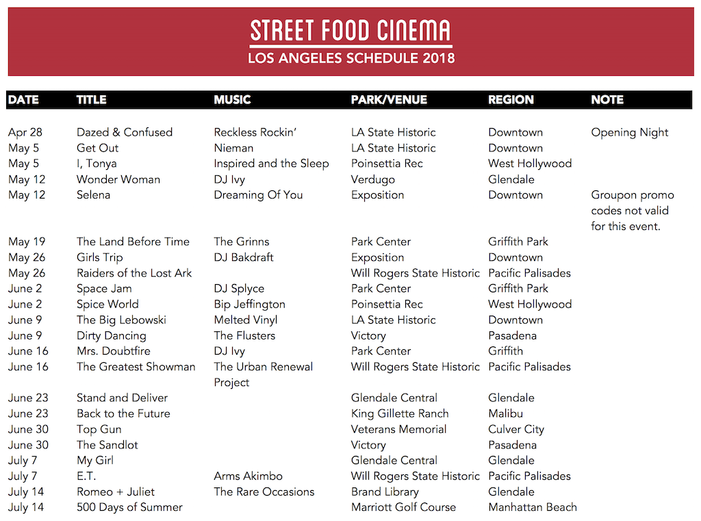 Street Food Cinema Orange County