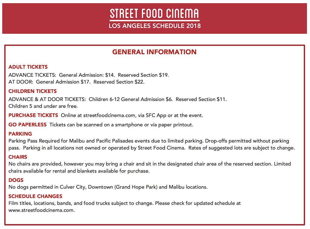 street food cinema 2018