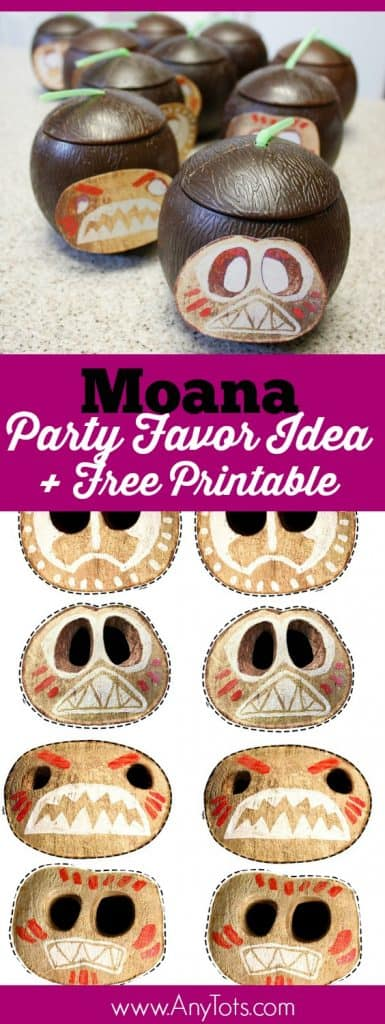 photo relating to Kakamora Printable identified as Moana Bash Want Tips: Coconut Cups + Cost-free Printable - Any