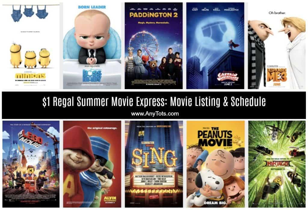 $1 Regal Summer Movie Express 2018 Movie Listing