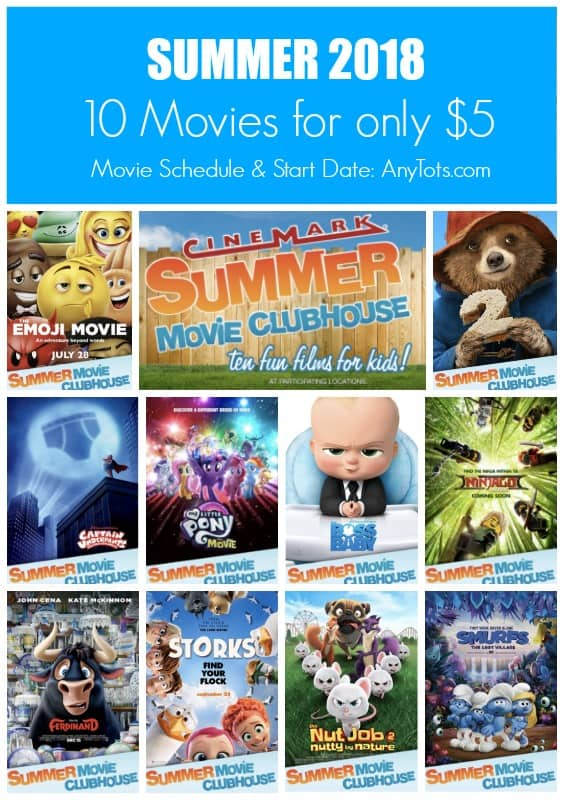 1 Regal Summer Movie Express 2018 Movie Listing Any Tots