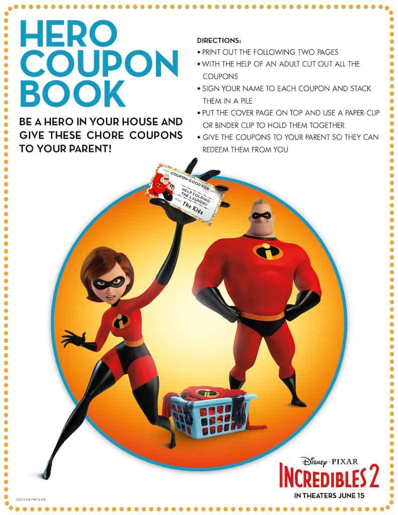 Incredibles 2 Free Printable