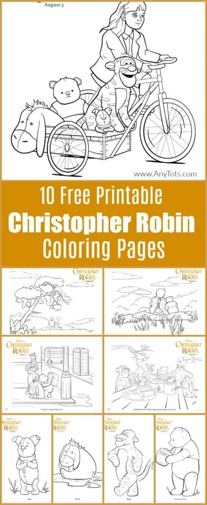 Free Christopher Robin Coloring
