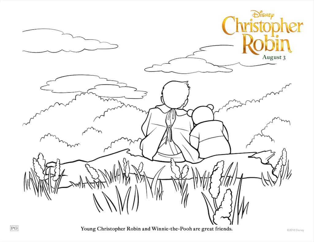 Free Christopher Robin Coloring Pages & Activity Sheets - Any Tots