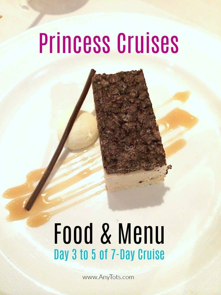 Princess Cruises Food and Menu