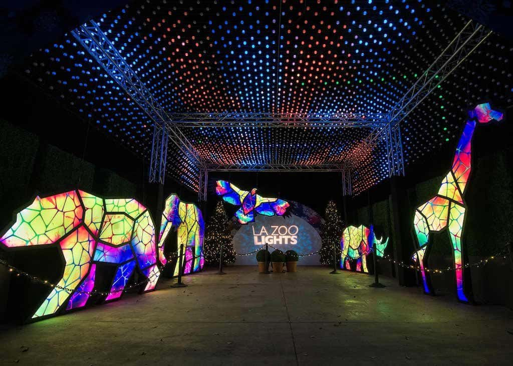 LA Zoo Lights 2019