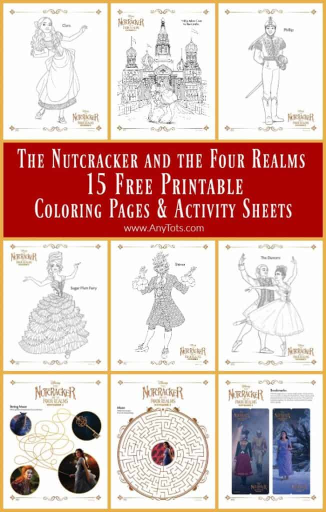 The Nutcracker and the Four Realms Free Printable Coloring Pages