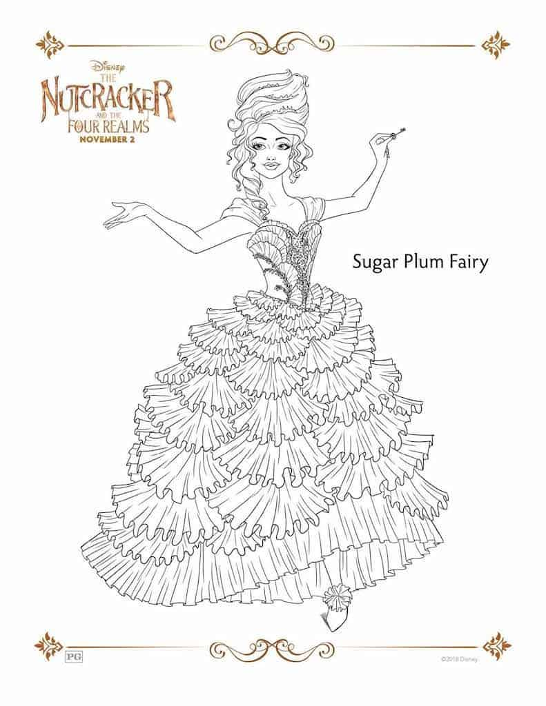 The Nutcracker And The Four Realms Free Printable Coloring Pages Any Tots