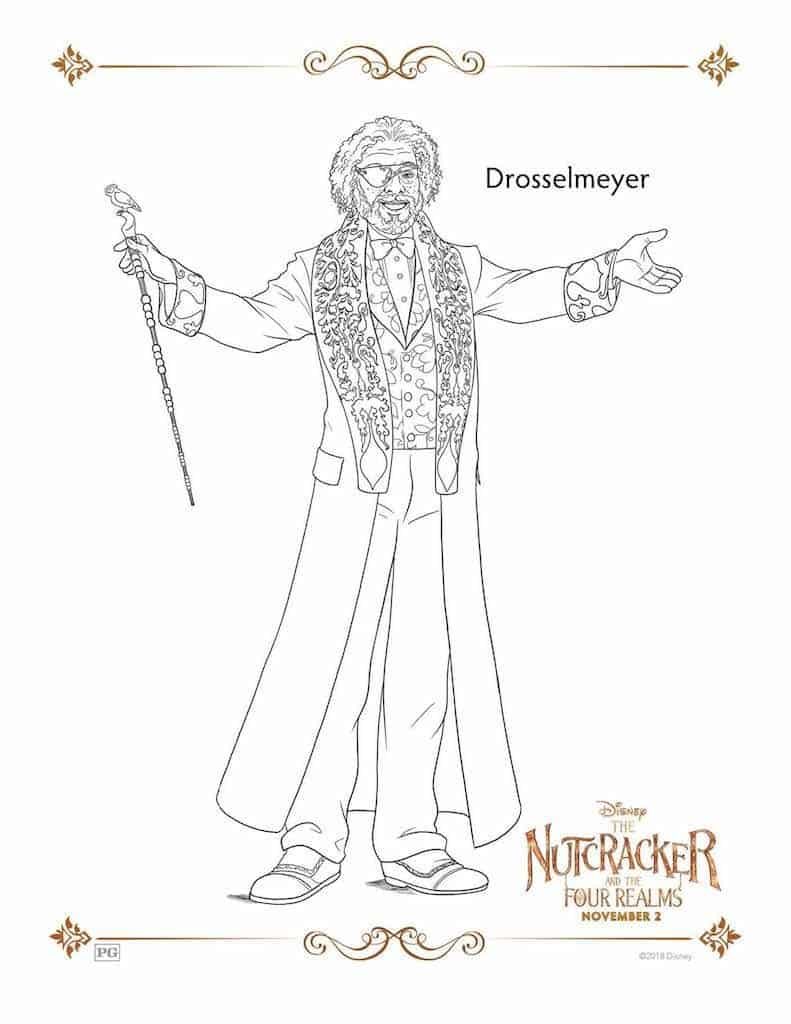 25 Free Nutcracker Coloring Pages Printable   1024x791