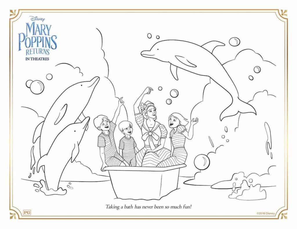 Free Printable Mary Poppins Returns Coloring Activity