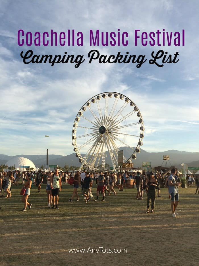 Coachella Camping Packing List