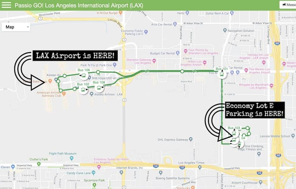 airport shuttle info