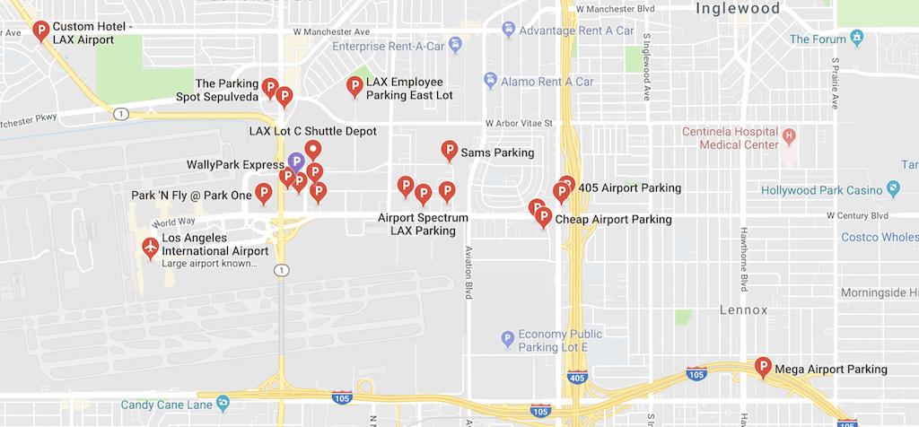 parking lots near lax
