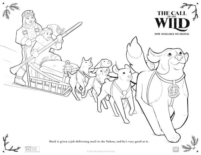 Call Of The Wild Free Printable Coloring Pages Any Tots