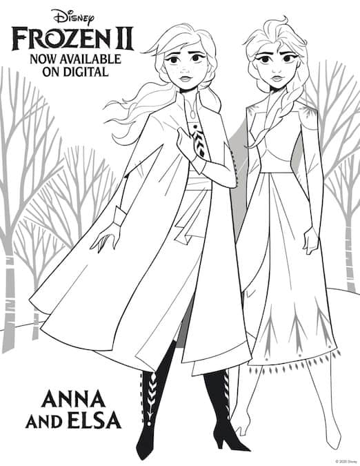 10 Frozen 2 Free Printable Coloring Pages & Activity