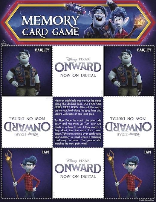 Onward Matching Game Page 2