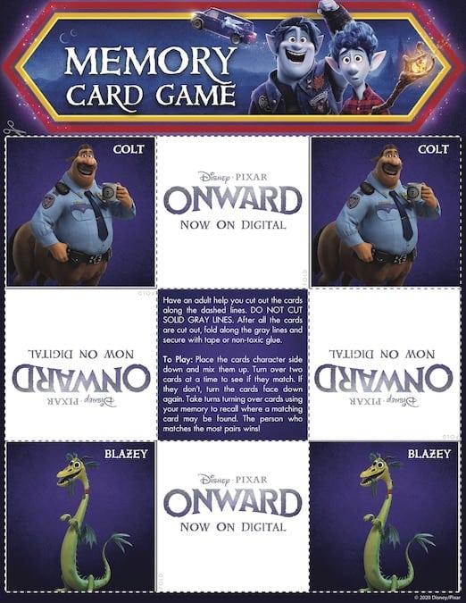 Onward Matching Game Page 3