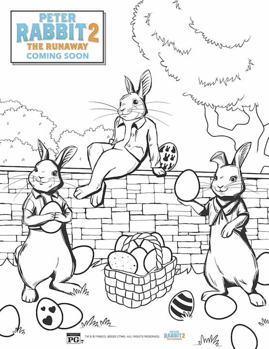 - Free Printable Peter Rabbit 2 Easter Coloring Pages & Activity Sheets - Any  Tots