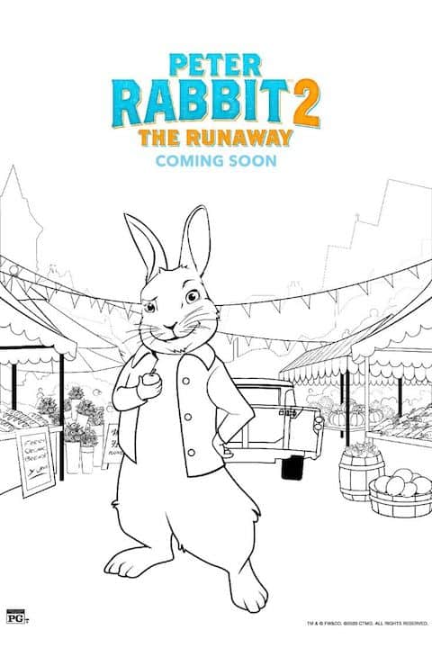 Free Printable Peter Rabbit 2 Coloring Pages 4 - Any Tots