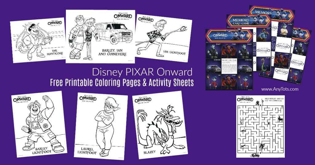 11 Free Printable Disney Onward Coloring Pages & Activity Sheets - Any Tots