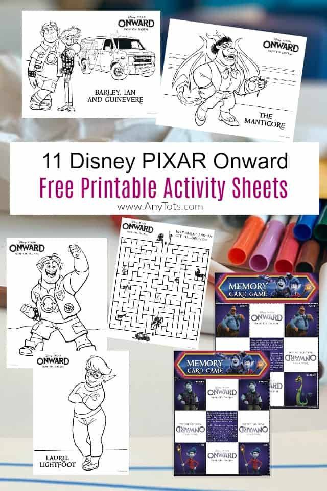 11 Free Printable Disney Onward Coloring Pages Amp Activity