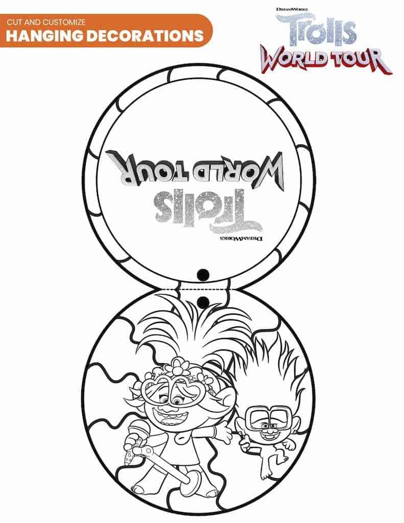 Free Printable Trolls World Tour Coloring Pages & Party Ideas ...