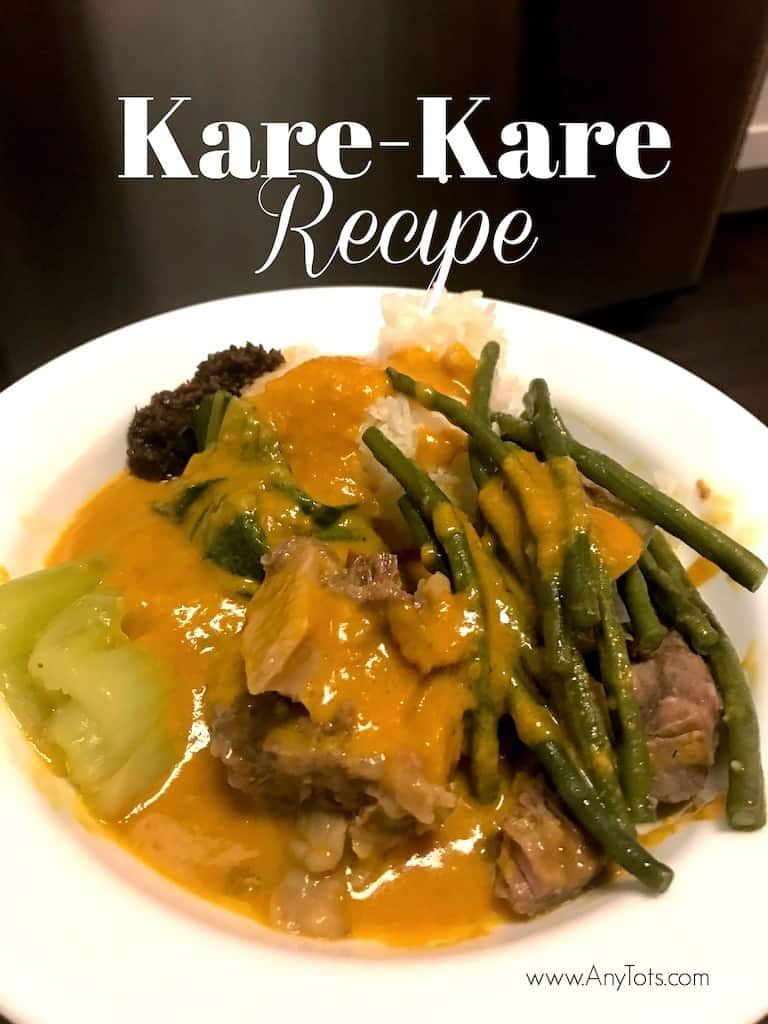 Serving the Kare-Kare with Bagoong Alamang