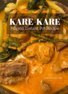 Instant Pot Filipino Recipes Kare Kare Oxtail Peanut Stew